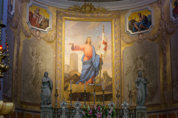 View of the Apse in the Duomo of Palmanova, Italy