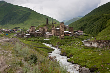 Old city Ushguli.