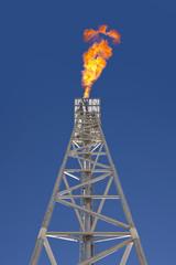 Oil platform flare stack