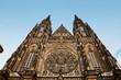 Saint Vitus Cathedral facade in Prague, Czech Republic