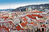Panoramic view of Prague from the Prague Castle, Czech Republic