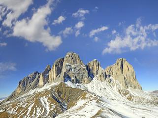 Val Gardena, Sasso Lungo (Langkofel), Dolomiti mountain, Italy
