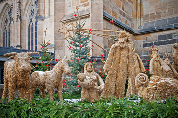 Nativity scene in Prague near the St. Vitus Cathedral