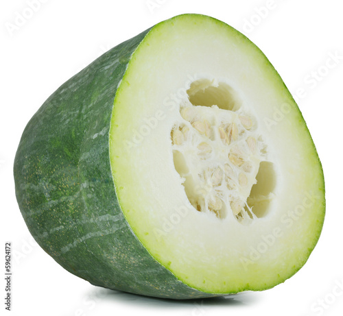 Winter melon on white background
