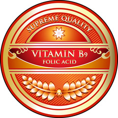 Vitamin B9 Supreme Quality Label