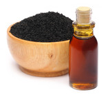 Nigella sativa or Black cumin with essential oil