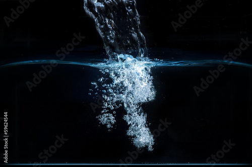 Leinwanddruck Bild Acqua pura - scioglimento ghiacciai