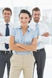 Portrait of a confident smiling business team