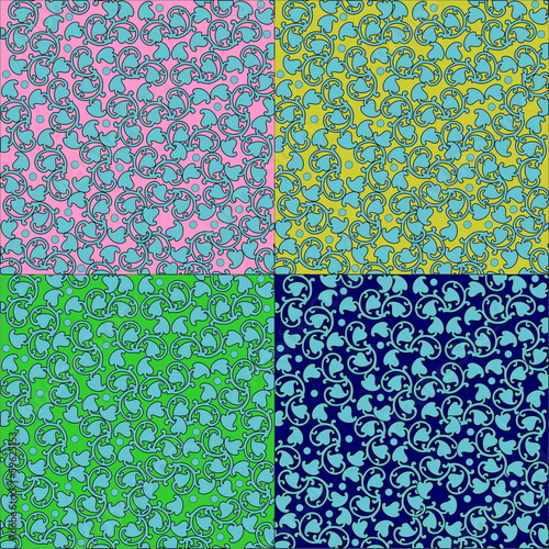 decorative seamless floral background