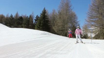 ski en famille dans les Alpes