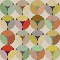 seamless background pattern, with circles, modern style, grungy