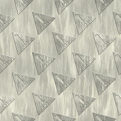 Warning Sign. Metal pattern. Seamless texture.