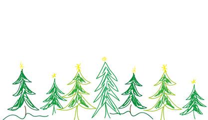 Weihnachtsbaum Grafik gemalt grün