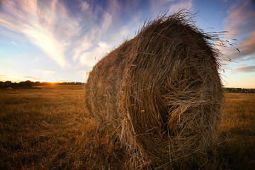 haystack twisted field summer sunset
