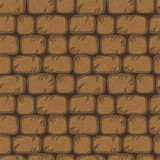 Seamless pattern with bricks. Endless grunge texture background.