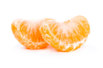 Two slices of mandarin