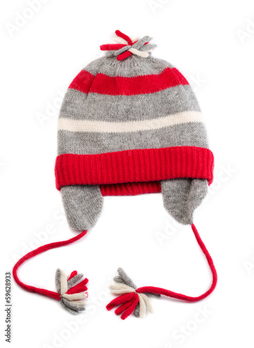 Winter baby striped hat