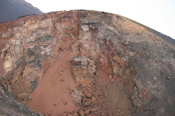 Crater of a volcano