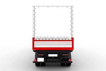 Red and white truck