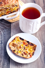 Rich fruit and nut cake