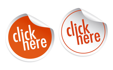 Click here stickers