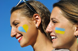 close-up portrait of two ukrainian teenage girls