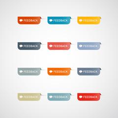 Colorful feedback icons