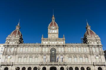 A Coruna Town Hall on Maria Pita Square in Galicia, Spain.