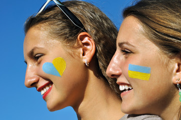 close-up portrait of two ukrainian teenage girls