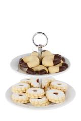 Weihnachtskekse auf Dessertteller; Beschneidungspfad