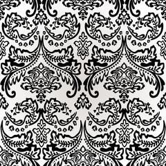 Damask Vintage Floral Seamless Pattern Background.