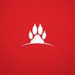 Animal footprint symbol