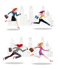 Businesswomen Running in the City2