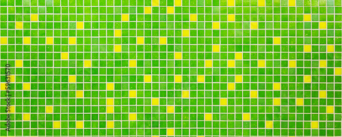 Textured mosaic of green and yellow