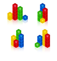 Set of design elements for business artwork