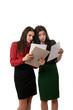 business women doing paperwork, teamwork concept