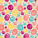 Seamless pattern with doodle dots.