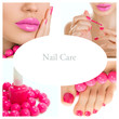 pedicure process - pink manicure and pedicure collage (bright pi