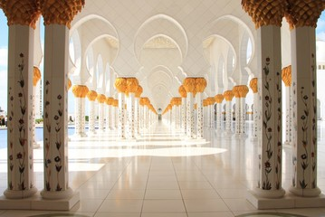 Sheik Zayed Grand Mosque in Abu Dhabi