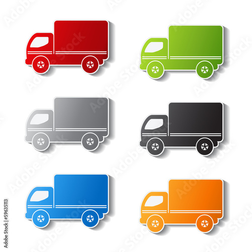 Vector truck symbols - delivery icon, sticker