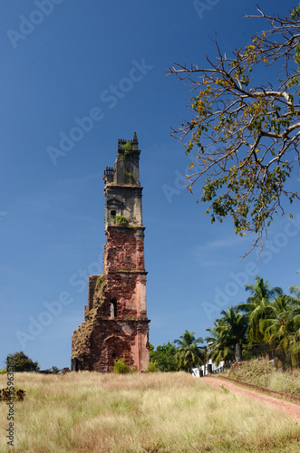 Ruins of St.Augustine church in Old Goa - Portuguese India