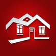 Vector symbol of home, house icon,silhouette, real estate