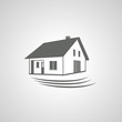 Vector home symbol, house icon,silhouette,real estate
