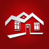 Vector symbol of home, house icon,silhouette, real estate - 59635326
