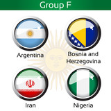 Vector flags, group F - Argentina, Bosnia Herzeg., Iran, Nigeria