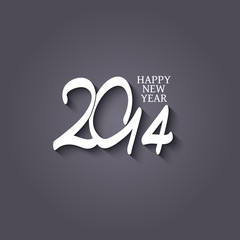 Vector paper label happy new year 2014 - EPS 10