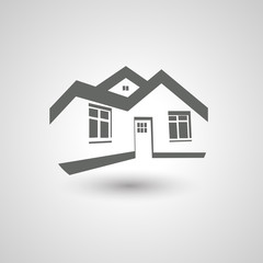 Vector symbol of home, house icon, silhouette, real estate
