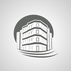 Vector home, house icon, real estate, Apartment Building