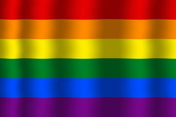 Waving Rainbow Flag