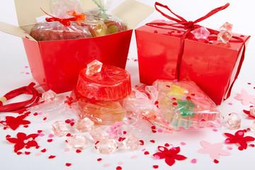 Red  handmade soap